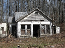 Abandoned Gas Station Near Helms Road